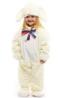 """Детский карнавальный костюм """"Зайчик - малыш белый"""""""