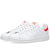 Оригинальные  кроссовки  Adidas Stan Smith Running White & Collegiate Red