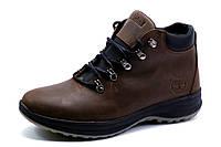 Зимние ботинки мужские Timberland, на меху, натуральная кожа, коричневые, р. 40