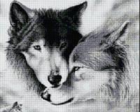 """Картина своими руками """"Влюбленные волки"""""""