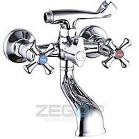 Смеситель для ванны короткий гусак, DAK3-А827 ZEGOR (TROYA), фото 1
