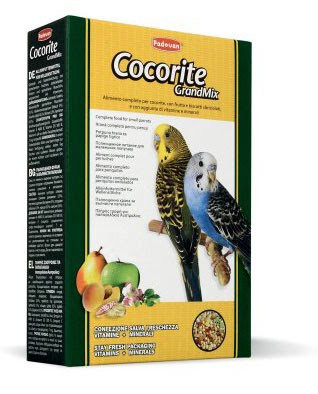 Padovan GRANDMIX COCORITE Комплексний корм для маленьких папуг (хвилястих папуг).0,400 кг