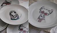 Печать на тарелках логотипа, тарелки для нанесения