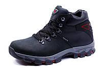 Ботинки Columbia Techlite, зимние, мужские, на меху, натуральная кожа, черные, р. 40
