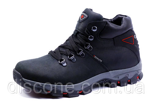 Ботинки Columbia Techlite, зимние, мужские, на меху, натуральная кожа, черные