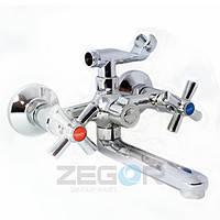 Смеситель для ванны короткий гусак, DMT3-A722 ZEGOR (TROYA)
