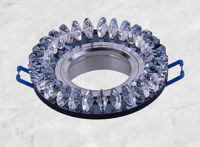 Точечный стеклянный врезной светильник (16-018), фото 2