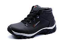 Ботинки Columbia Performans, зимние, мужские, на меху, натуральная кожа, черные, р. 40