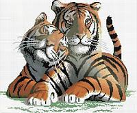 """Вышивка в алмазной технике """"Настоящая любовь(тигры)"""""""