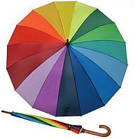 Женский зонт трость Doppler 16 спиц Радуга ( механика ) арт.74130