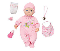 Интерактивная кукла Baby Annabell Моя маленькая принцесса 43 см с аксессуарами и озвучкой оригинал