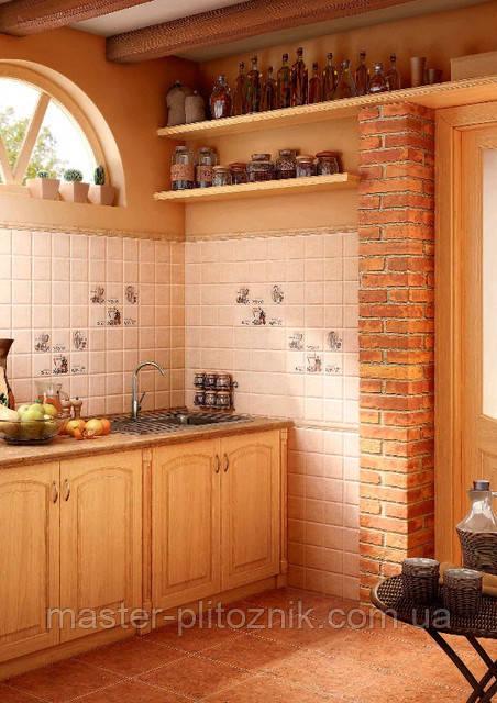 Плитка облицовочная для стен кухни Лючия