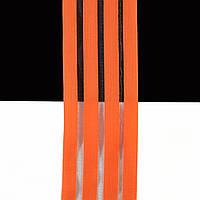 Танцевальная резинка с леской для костюмов, нарядов и выступлений оранжевый