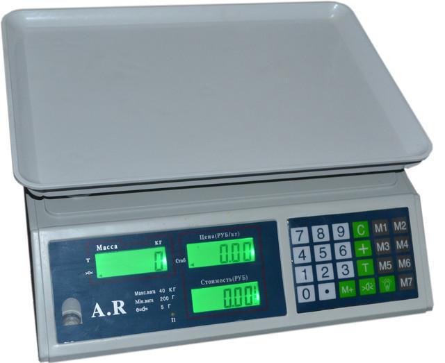Весы торговые A.R 759 40кг