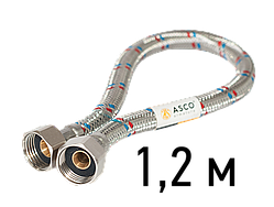 Шланг нержавіючий 1/2 СТ 1,2 м EPDM ASCO Armatura