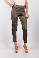 Модные женские укороченные брюки из приятного материала  с простроченными стрелками коричневые, светло-бежевые, светло-розовые, сиреневые, хаки,