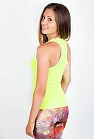 Привлекательная женская майка борцовка облегающего кроя лимонная, светло-малиновая, светло-розовая, электрик