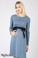 Платье для беременных и кормящих Orbi DR-46.121, джинсово-синий меланж, размер 44