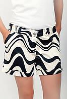 Оригинальные женские короткие шорты классического кроя с высокой талией и отворотами светло-кремовые, светло-синие, светло-сиреневые,