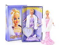 Кукла Принцесса Defa Lucy в вечернем платье и меховой накидке, с украшениями