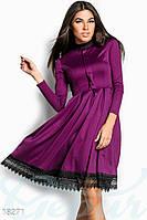 Красивое сдержанное платье из французского трикотажа. Цвет фиолетовый.