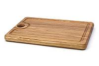 Деревянная разделочная доска с отверстием 30 х 20 см
