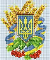 Герб Украины 3 Картина своими руками в технике мозаики.