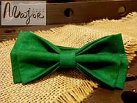 Бабочка зеленая однотонная Классик2