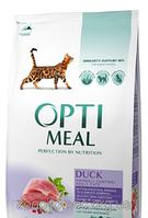 Сухой корм для кошек С уткой Optimeal (Оптимил) Защита иммунитета вывод шерсти 0,3 кг