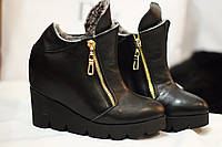 Женские зимние ботинки от TroisRois из натуральной турецкой кожи и меха