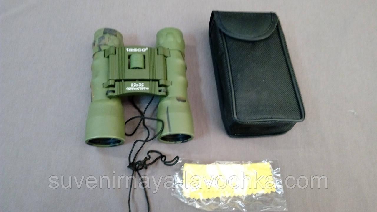 Бинокль рыбацкий из качественной оптикой 22x32 - T (green).
