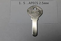 Заготовка ключа APECS 2.5мм