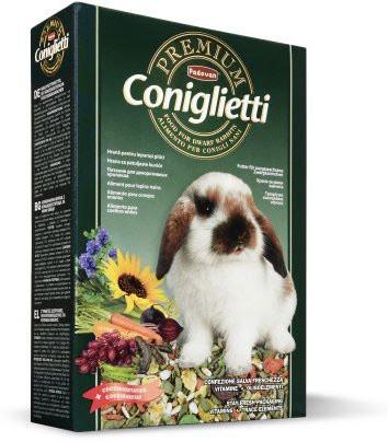 Padovan PREMIUM CONIGLIETTI Комплексный основной корм для декоративных кроликов на всех стадиях жизни 2кг