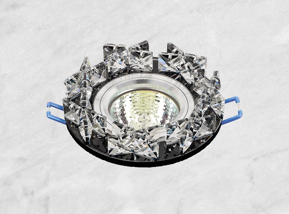 Точечный стеклянный врезной светильник (16-118)
