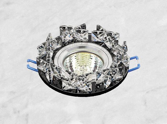 Точечный стеклянный врезной светильник (16-118), фото 2