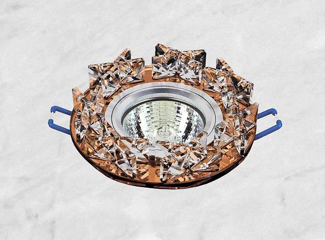 Точечный стеклянный врезной светильник (16-119), фото 2