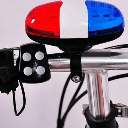 2в1 LED, светодиодная подсветка и милицейская сирена для велосипеда, фото 2