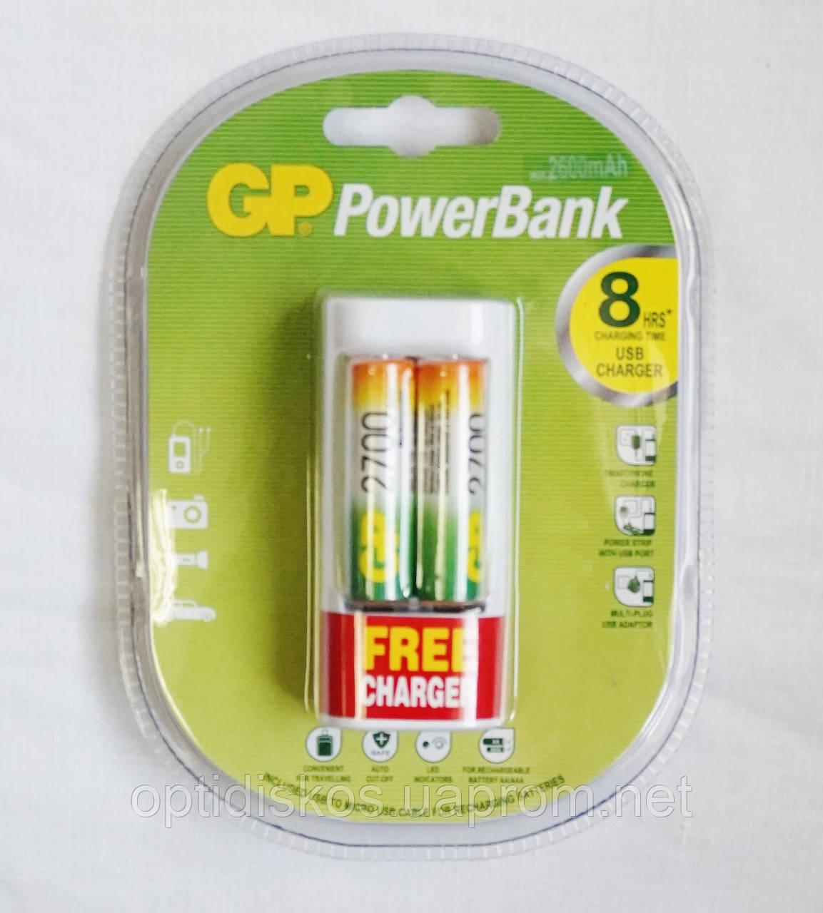 Набор акк.GP R-06/2bl 2700 mAh Ni-MH + зарядное устройство