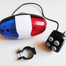 2в1 LED, светодиодная подсветка и милицейская сирена для велосипеда, фото 3