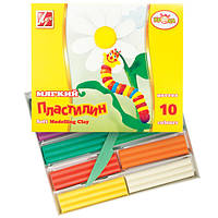 """Пластилин Луч """"Кроха"""" (Восковой) 10цв."""