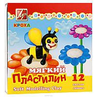 """Пластилин Луч """"Кроха"""" (Восковой) 12цв."""