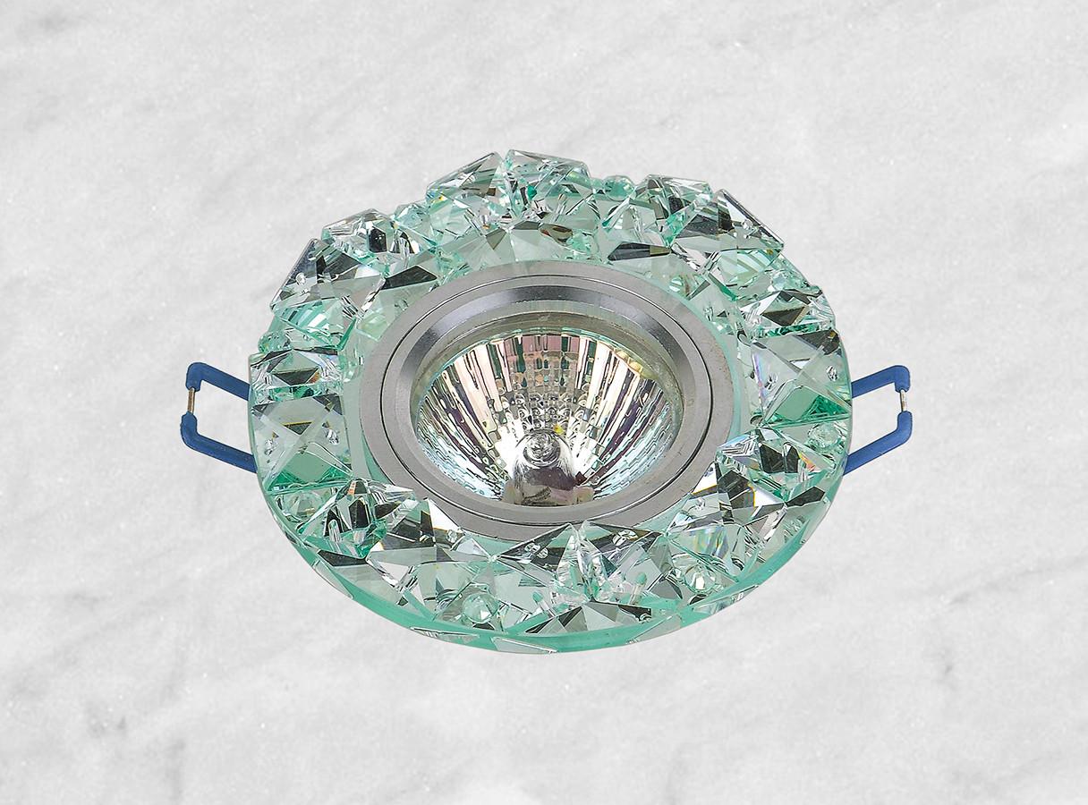 Точечный стеклянный врезной светильник (16-146)