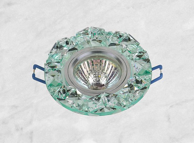 Точечный стеклянный врезной светильник (16-146), фото 2