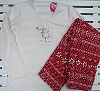 Женская теплая флисовая пижама размер L,XL