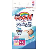 Подгузники GOO.N для маловесных новорожденных 1,8-3 кг (размер SSS, на липучках, унисекс, 36 шт)