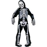 Костюм скелета для детей, светится, 4 предмета в наборе