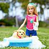 Набор с куклой Барби Веселое купание щенка Barbie Splish Splash Pup Playset