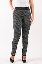 Молодежные женские брюки из трикотажа с оригинальным узором  Даяна
