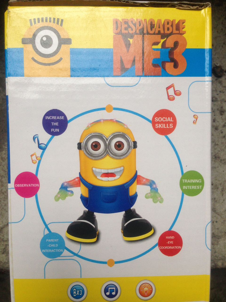 Музыкальный миньон Minions 8115 C Посипака (Музыкальная игрушка для детей)