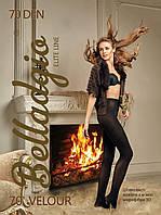 Черные теплые колготы женские Velour 70 den Belladgio (Украина) Быстрая отправка